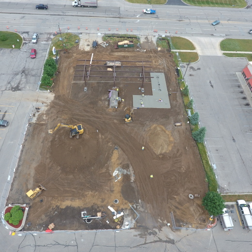 Aerial View - Tank Slab Installation